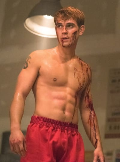 Bruised and Bloodied Archie - Riverdale Season 3 Episode 15