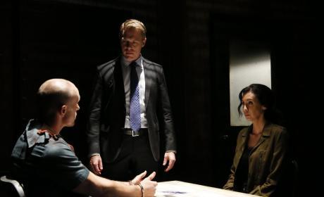Ressler and Samar interrogate a suspect - The Blacklist Season 4 Episode 8
