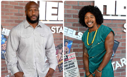 Heels Stars James Harrison and Allen Maldonado Talk Athleticism, Characters, and Tease Each Other Mercilously