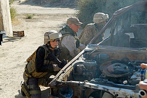 Gibbs and Ziva in Afghanistan