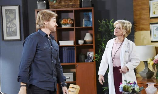 Steve is Suspicious of Kayla - Days of Our Lives