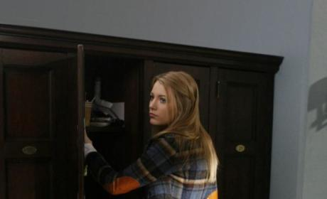 At Her Locker