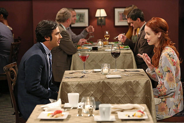 Raj and Emily have Dinner