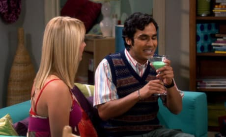 Penny Makes Raj Drink