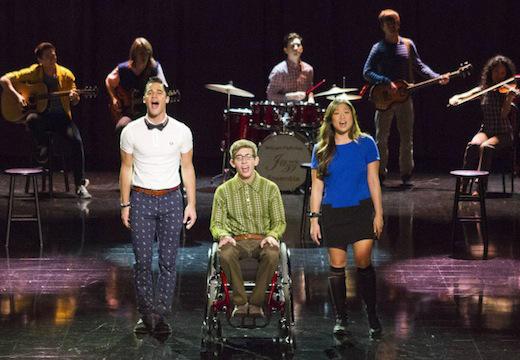 Artie, Blaine and Tina