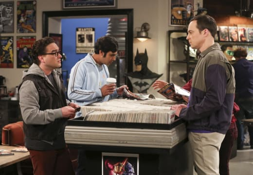Raj, Leonard, and Sheldon Look at Comic Books - The Big Bang Theory Season 10 Episode 22