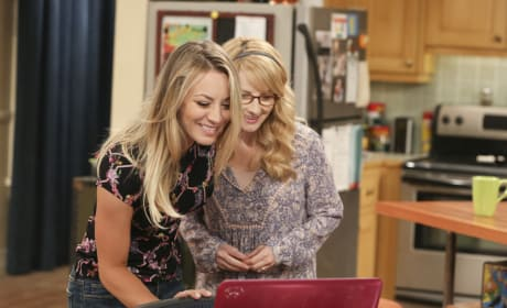 Penny and Bernadette Skype with Amy - The Big Bang Theory Season 10 Episode 24