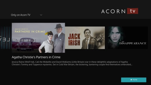 Acorn TV only on