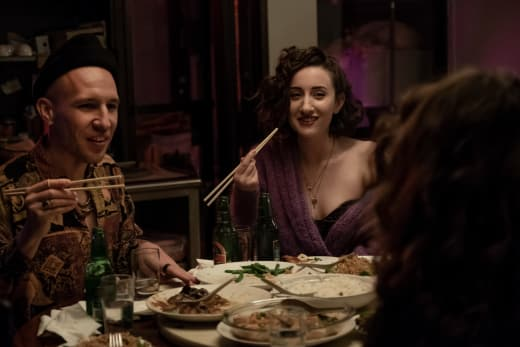 Sasha and Ari laugh together - Sweetbitter Season 1 Episode 4