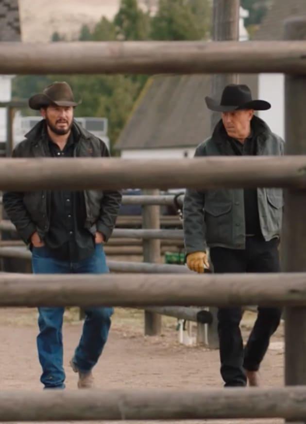 Rip and John Walk the Ranch - Yellowstone Season 2 Episode 8