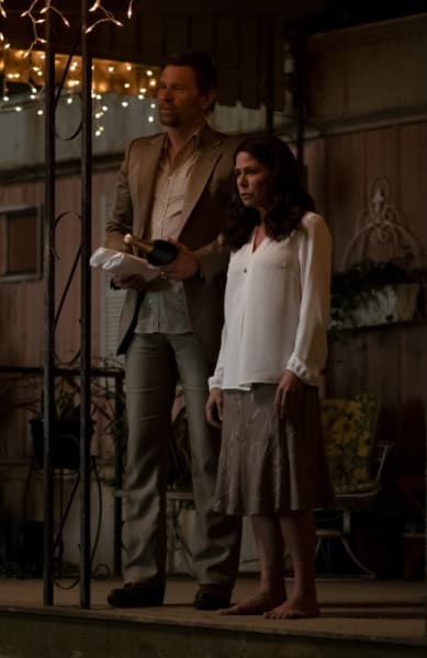 Virgil and Grace on the Porch - American Rust