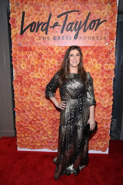 Mayim Bialik Attends Event