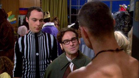 Sheldon and Leonard Open the Door