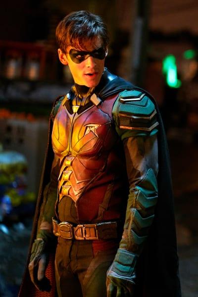 Robin Looks Annoyed - Titans