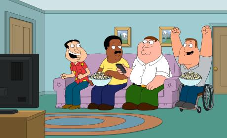 Watching Rocky IV - Family Guy Season 16 Episode 7