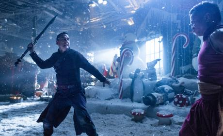 Sunny and Cyan rumble - Into the Badlands Season 2 Episode 6