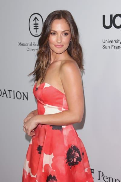 Minka Kelly Wears Floral Dress