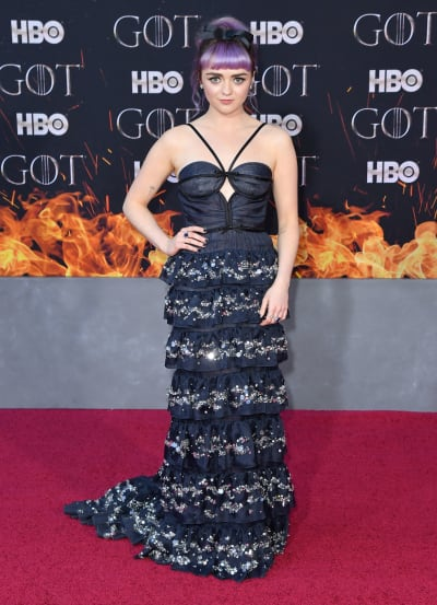 Maisie Williams Attends NY Premiere for GOT Season 8