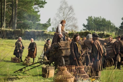 Jamie Collecting In A Village - Outlander Season 1 Episode 5