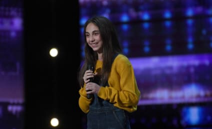 America's Got Talent Sneak Peek: 12-Year-Old Ashley Marina Belts Out Her Original Song