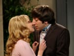 Wolowitz and Bernadette Kiss