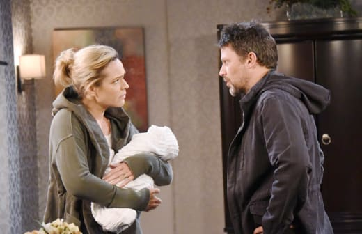 Nicole and Eric Sneak Around the Hospital - Days of Our Lives