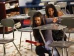 Elena and Bonnie in Classroom