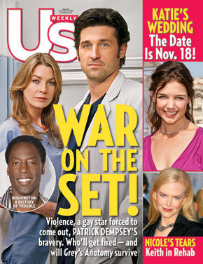 Grey's Anatomy Rumors: Us Weekly Cover