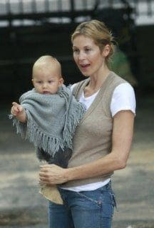 Kelly Rutherford and Son