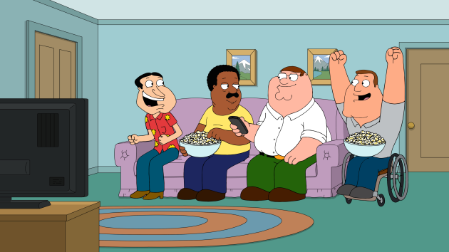 Watching Rocky IV - Family Guy Season 16 Episode 7