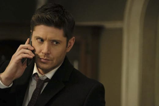 Dean gets off speakerphone - Supernatural Season 12 Episode 15
