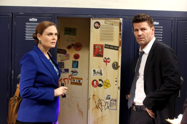 Brennan and Booth Check Things Out at the School