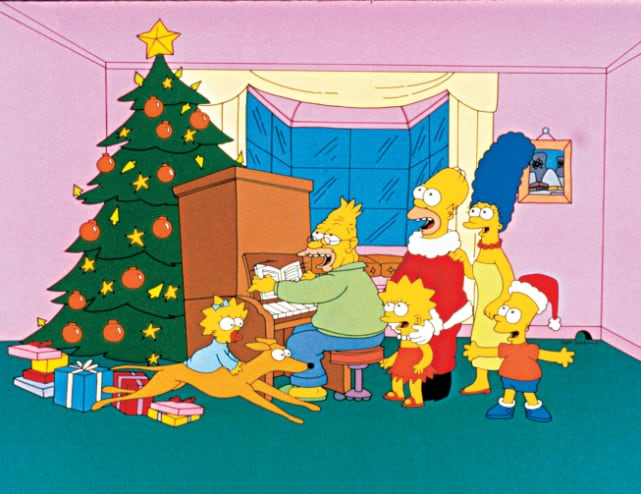 Simpsons roasting on an open fire the simpsons