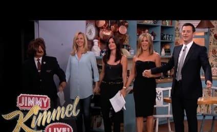 Friends Reunite on Jimmy Kimmel Live: It's Rachel, Monica and Phoebe!