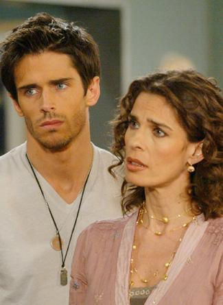 Kristian Alfonso and Brandon Beemer