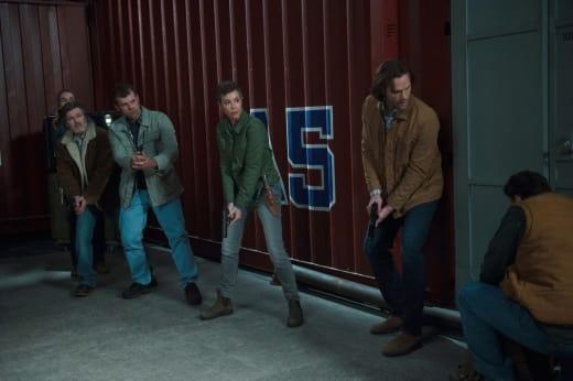 Hunters raid the compound - Supernatural Season 12 Episode 22