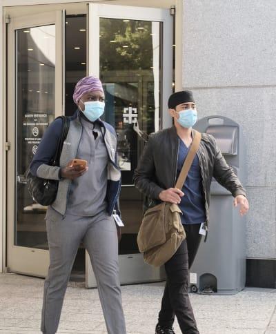 Masked Mevon  - Tall - The Resident Season 4 Episode 1