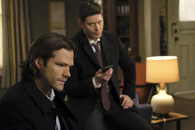 On the phone with Sam and Dean - Supernatural Season 12 Episode 15