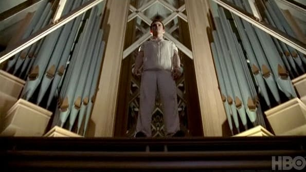 Godric at the Church