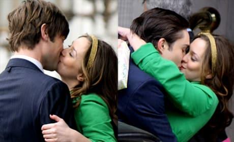 Leighton Meester Kissing Pics