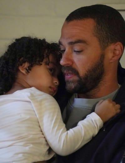 Jackson Holds Harriet  - Grey's Anatomy Season 17 Episode 14