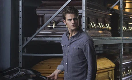 Surrounded by Coffins - The Vampire Diaries Season 7 Episode 5
