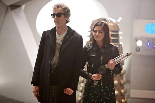 The Doctor and Clara on Skaro - Doctor Who Season 9 Episode 2