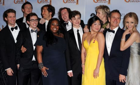 Glee at Golden Globes