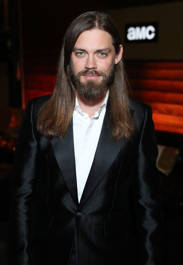 Tom Payne Attends AMC Event