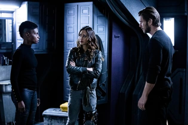 Indra, Raven, and Kane - The 100 Season 6 Episode 9
