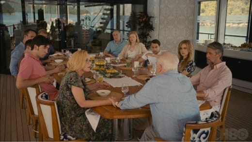 Gerri Grasps Logan's Hand - Succession Season 2 Episode 10