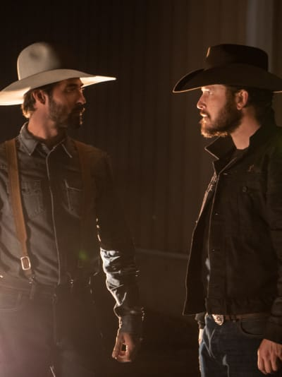 Walker and Rip Stare Down - Yellowstone Season 2 Episode 1
