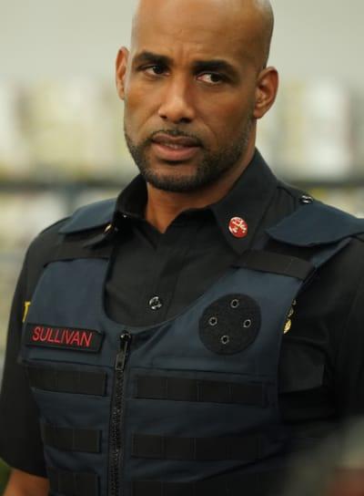 Sullivan protective gear - Station 19 Season 3 Episode 9