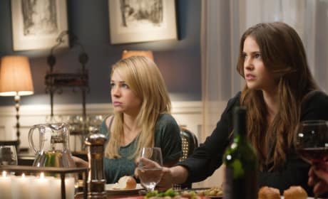 Cassie and Diana at Dinner
